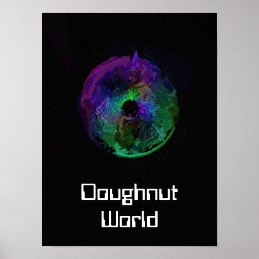 Doughnut World Poster