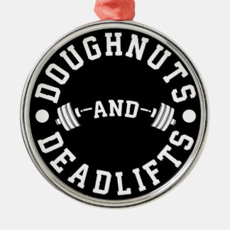 Doughnuts and Deadlifts - Carbs - Funny Workout Christmas Ornament