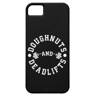 Doughnuts and Deadlifts - Carbs - Funny Workout iPhone 5 Cover