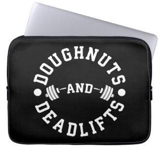 Doughnuts and Deadlifts - Carbs - Funny Workout Laptop Sleeve