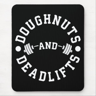 Doughnuts and Deadlifts - Carbs - Funny Workout Mouse Mat