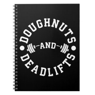 Doughnuts and Deadlifts - Carbs - Funny Workout Notebook