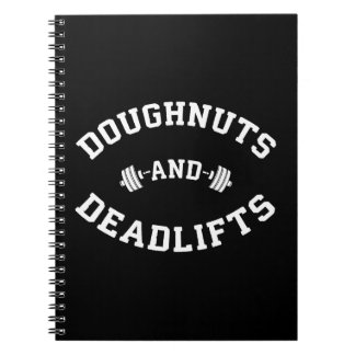 Doughnuts and Deadlifts - Funny Gym Workout Notebook