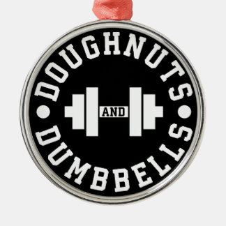 Doughnuts and Dumbbells - Carbs - Funny Workout Christmas Ornament