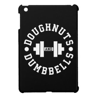 Doughnuts and Dumbbells - Carbs - Funny Workout iPad Mini Cover