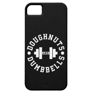 Doughnuts and Dumbbells - Carbs - Funny Workout iPhone 5 Cases