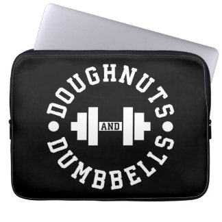 Doughnuts and Dumbbells - Carbs - Funny Workout Laptop Sleeve