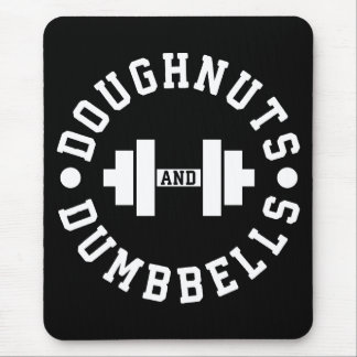 Doughnuts and Dumbbells - Carbs - Funny Workout Mouse Mat