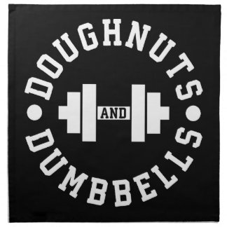 Doughnuts and Dumbbells - Carbs - Funny Workout Napkin