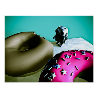 Doughnuts and Toy Robot 02 Poster