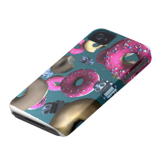 Doughnuts and Toy Robot 03 Case iPhone 4 Cases