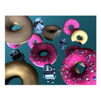 Doughnuts and Toy Robot 03 Postcard