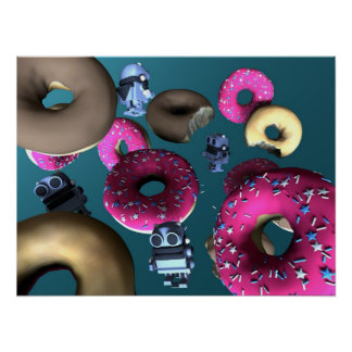 Doughnuts and Toy Robot 03 Poster