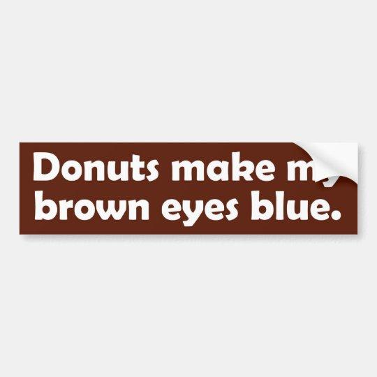 Doughnuts B-stika Bumper Sticker