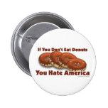 Doughnuts For America 6 Cm Round Badge