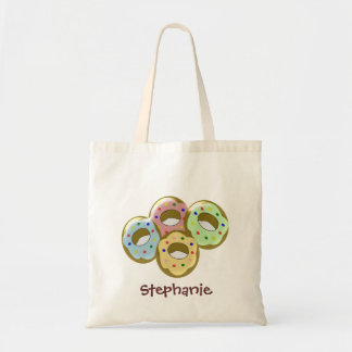 Doughnuts Just Add Name Tote Bag