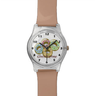 Doughnuts Just Add Name Wristwatches