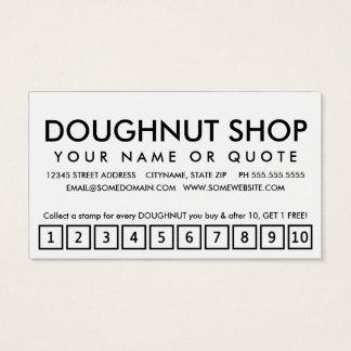 doughnuts. loyalty punch card