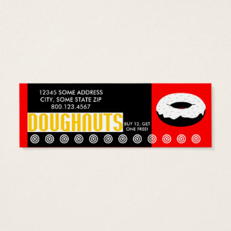 doughnuts small chat mini business card
