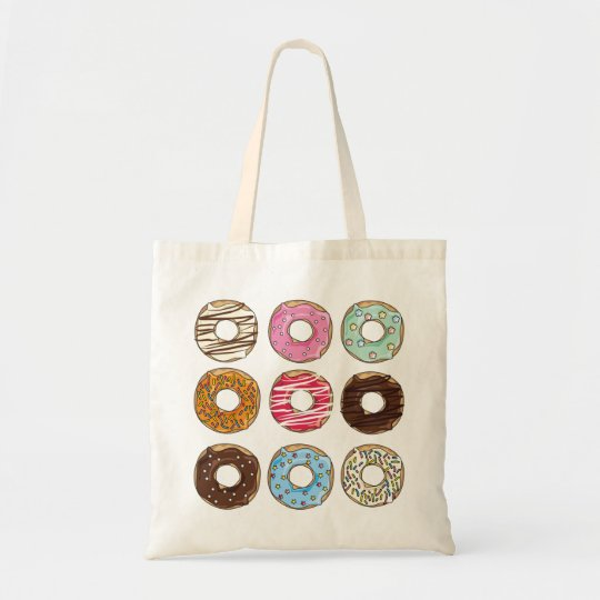 Doughnuts sweets yummy colourful tote bag