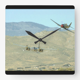 Douglas A26 And Seafury, Flying_WWII Planes Wallclock