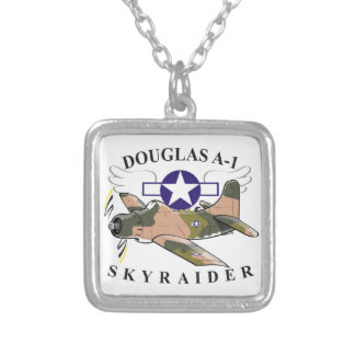 douglas a-1 skyraider silver plated necklace