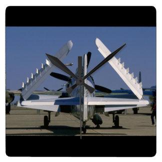 Douglas AD-1 Skyraider, Folded, Rear._WWII Planes Wallclocks