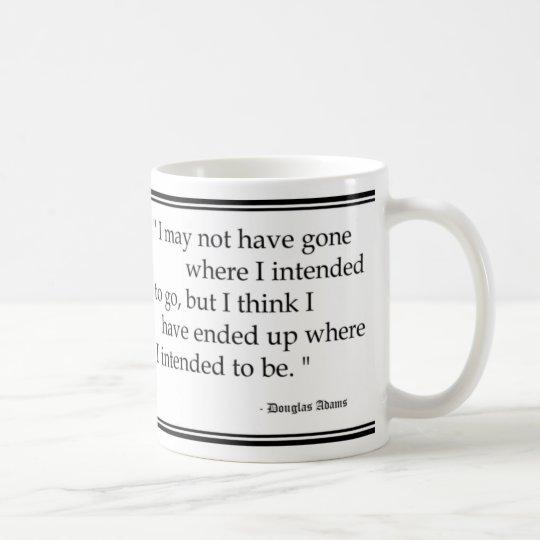 Douglas Adams Travel Quotes Coffee Mug