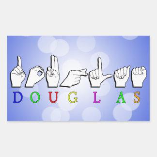DOUGLAS ASL FINGER SPELLED STICKER