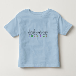 DOUGLAS ASL FINGER SPELLED TODDLER T-Shirt