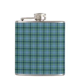 Douglas Clan Light Blue and Green Ancient Tartan Hip Flask