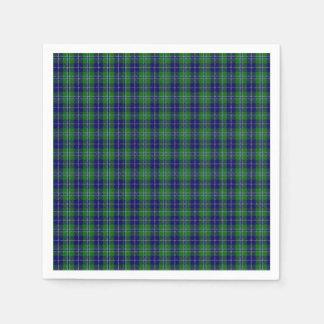 Douglas Clan Tartan Plaid Paper Napkins Disposable Serviette