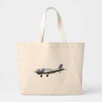 Douglas Dakota DC3 G-AMSV Large Tote Bag