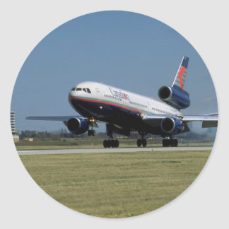Douglas DC-10 on take-off Classic Round Sticker