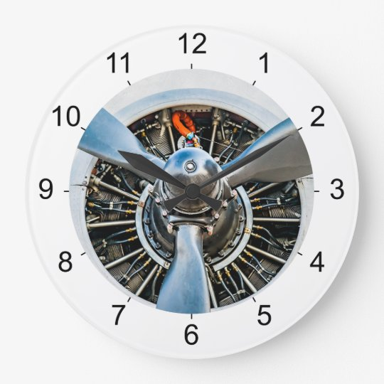 Douglas DC-3 Aircraft. Propeller Wall Clock