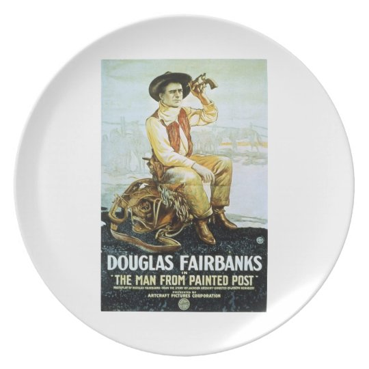 Douglas Fairbanks Man from Painted Post 1917 film Plate