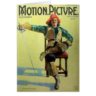 Douglas Fairbanks Three Musketeers cover Card