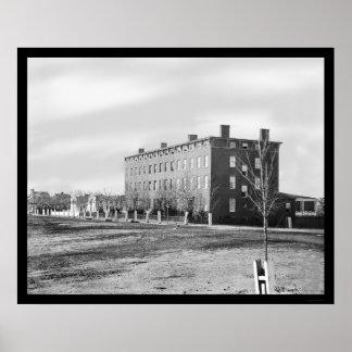 Douglas Hospital in Washington, DC 1864 Poster