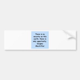 douglas macarthur quote bumper sticker