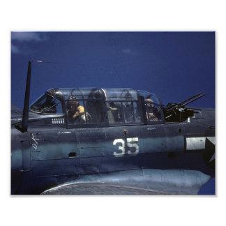 Douglas SBD Dauntless on patrol - Pacific, WW2 Photo Print