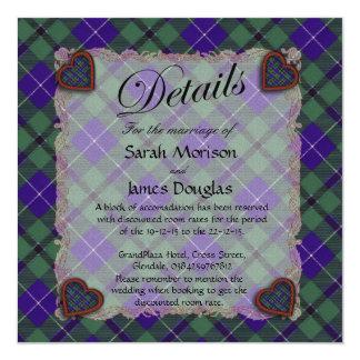 "Douglas Scottish clan tartan - Plaid 5.25"" Square Invitation Card"