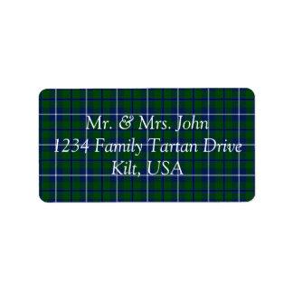 Douglas Tartan Label Address Label