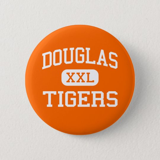 Douglas - Tigers - High School - Minden Nevada 6 Cm Round Badge