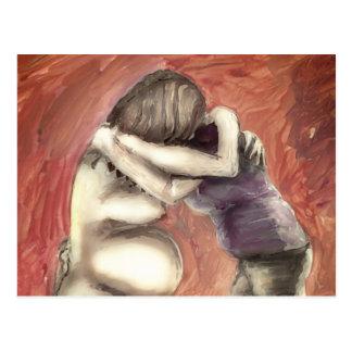 Doula hug postcard
