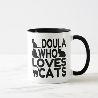 Doula Who Loves Cats Mug