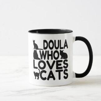 Doula Who Loves Cats Mug