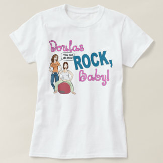 Doulas Rock! Ladies Baby doll t-shirt