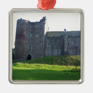 Doune Castle Scotland Silver-Colored Square Decoration