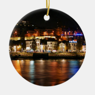 Douro river in Porto, Portugal Christmas Ornament