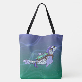 DOUZOU ALIEN MONSTER FUNNY TOTE BAG